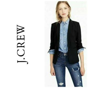 J. CREW 100% Wool Black Classic Blazer